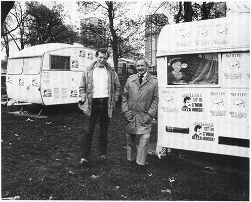 Phil Goldie and 'Pops' at the Castlemilk Sit-In.